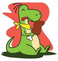 Eating Dinosaur vector image