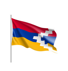 flag of nagorno-karabakh state vector image vector image