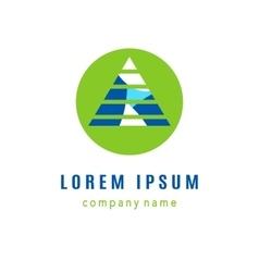 Pyramid creative logo design vector image vector image