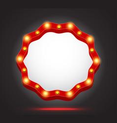retro light frame banner vector image