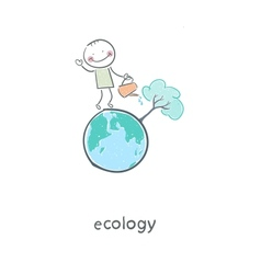 The concept of ecological restoration A man vector image vector image