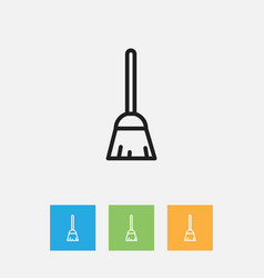 of cleanup symbol on besom vector image