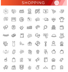 outline icon collection - black friday big sale vector image vector image
