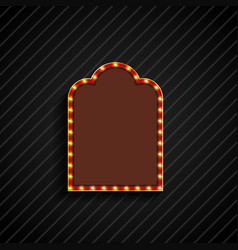 retro billboard with space for text black backgrou vector image