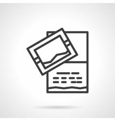 Invitation card icon black line design icon vector image vector image