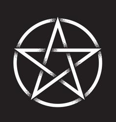 pentagram dot work ancient pagan symbol vector image vector image