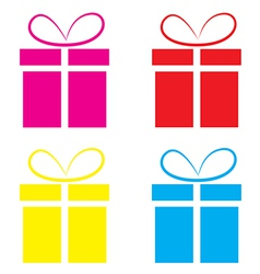 The gift box on a white background vector image vector image