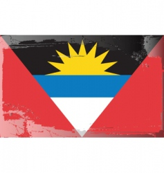 antigua barbuda national flag vector image