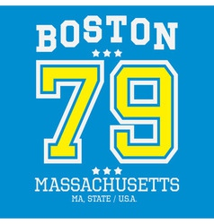 Boston Sport Team T-shirt Typography vector image