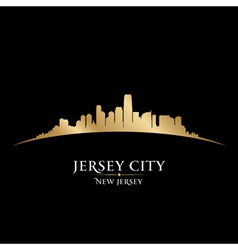 Jersey city New Jersey skyline silhouette vector image