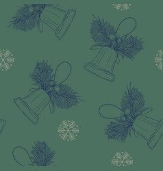 merry cristmast seamless pattern hand draw vector image vector image