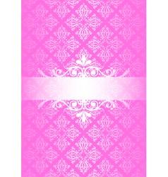 pink vintage vector image vector image