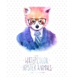 red panda portrait in vector image vector image