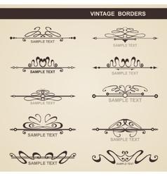 Set of vintage elements vector image vector image