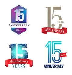 15 Years Anniversary Symbol vector
