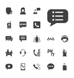 22 talk icons vector