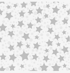 a simple gray star seamless pattern white vector image