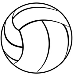 a volleyball outline isolated in white background vector image