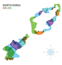 abstract color map north korea vector image