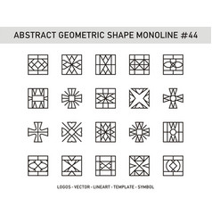 Abstract geometric shape monoline 44 vector