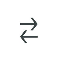 Arrow icon simple vector