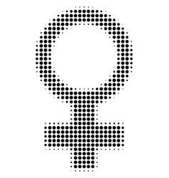 black pixel venus symbol icon vector image