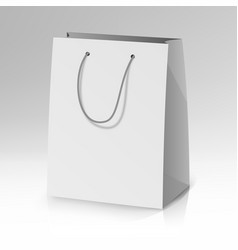 blank paper bag template realistic vector image