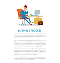 business process businessman talking on phone vector image