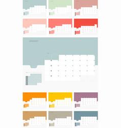 calendar design template for 2019 simple planner vector image