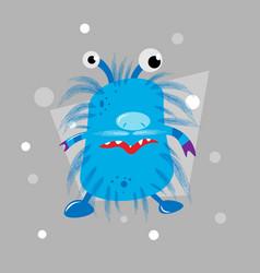 cartoon cool fat monster monster character vector image