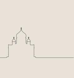 Cathedral christ savior vector