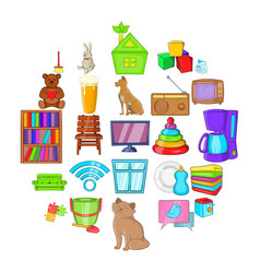 Chamber icons set cartoon style vector