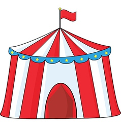 Circus tent cartoon vector