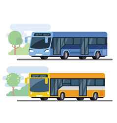 City public bus vector