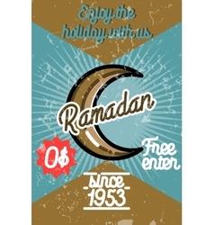 Color vintage ramadan banner vector