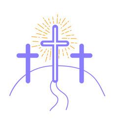 Concept crucifixion vector