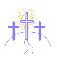 concept of the crucifixion vector image