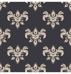 Cream colored seamless floral pattern vector
