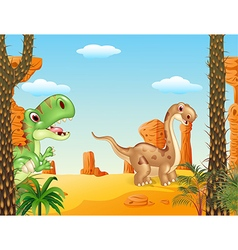 Cute dinosaur collection vector