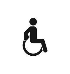 disabled person sign disability man on wheelchai vector image