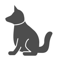 Dog solid icon animal vector