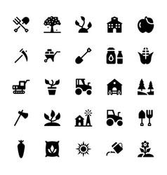 farming glyph icons vector image