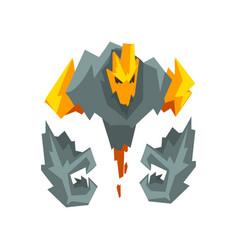 Fire stone monster fantasy mystic creature vector