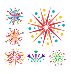 Firework icon isolated vector