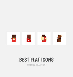 Flat icon chocolate set of chocolate wrapper vector