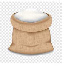 Flour bag icon realistic style vector