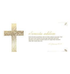 funeral card template vector image