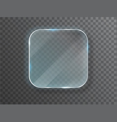 Glass plates banners on transparent vector