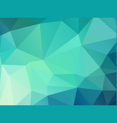 green color geometric mosaic background vector image