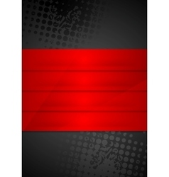 Grunge black background with red stripes vector image